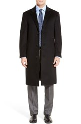 Hart Schaffner Marx Big And Tall Sheffield Classic Fit Wool And Cashmere Overcoat Black