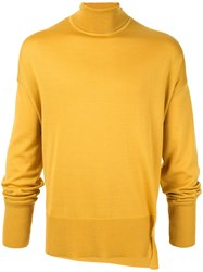Wooyoungmi Turtleneck Fine Knit Sweater Yellow