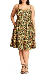 City Chic Plus Size Women's Zesty Fun Sundress