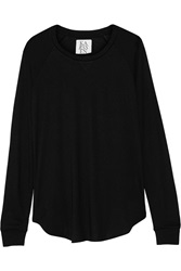 Zoe Karssen Cotton And Modal Blend Jersey Top Black