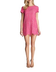 Cece By Cynthia Steffe Lace Overlay Shift Dress Pink Lily