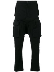 Unravel Project Drop Crotch Track Pants Black