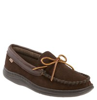 L.B. Evans Men's 'Atlin' Moccasin Chocolate Terry