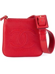 Chanel Vintage Logo Detail Bum Bag Red