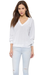 Just Female Stella V Neck Sweater White
