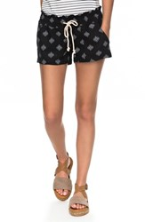 Roxy 'S Oceanside Printed Drawstring Shorts Anthracite Pearly Tiles