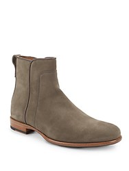 Aquatalia By Marvin K Kenton Suede Dress Boots Stone Grey