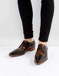 Jeffery West Yardbird Brogue Lace Up Shoes In Brown