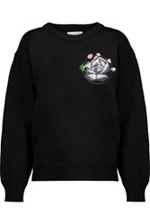 J.W.Anderson Embroidered Cotton Sweater Black