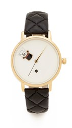 Kate Spade Magic Hat Quilted Metro Watch Black Gold