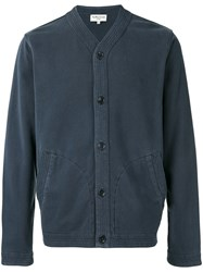 Ymc V Neck Cardigan Men Cotton S Blue