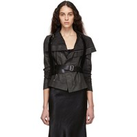 Ann Demeulemeester Black Wide Kenya Harness Belt