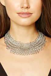 Forever 21 Layered Chain Link Choker Silver