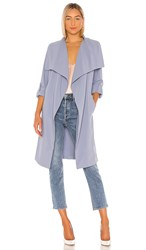 Soia And Kyo Ornella Trench Coat In Blue. Cerulean