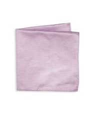 Armani Collezioni Thin Striped Silk Pocket Square Purple
