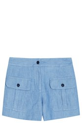 Paul And Joe Striped Shorts Blue
