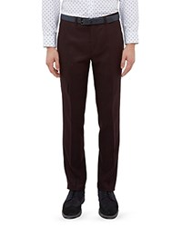 Ted Baker Austro Wool Blend Regular Fit Trousers Red