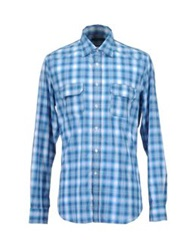 Siviglia Long Sleeve Shirts Azure
