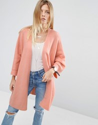 Asos Cardigan In Oversized Shape Blush Pink