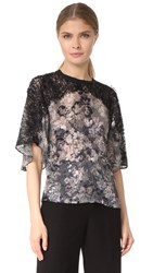 Yigal Azrouel Printed Burnout Tee Jet Multi