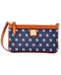 Dooney And Bourke New York Yankees Large Slim Wristlet Navy