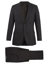 Kilgour Birdseye Single Breasted Wool Suit Charcoal