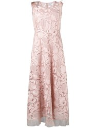 Red Valentino Floral Lace Dress Pink