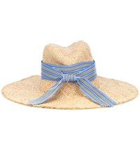 Lola Hats Striped First Aid Raffia Hat Neutrals