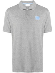 Ck Calvin Klein Chest Logo Polo Shirt Grey