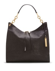 Vince Camuto Avin Chain Link Strap Leather Hobo Black