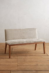 Anthropologie Slub Velvet Emrys Bench Pearl