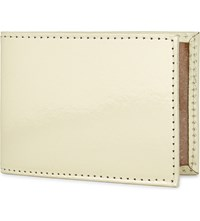 Undercover Metallic Recycled Leather Travel Card Holder Gold