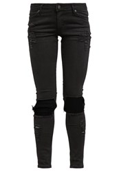 Cheap Monday Slim Fit Jeans Detroy Black Denim