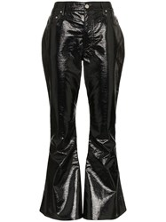 Beaufille Veritas Kick Flare Vinyl Trousers