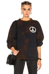 Acne Studios Fint Peace Sweater In Black Brown Tie Dye And Ombre Black Brown Tie Dye And Ombre