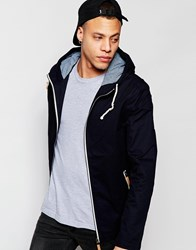 Brave Soul Hooded Jacket With Toggles Navy