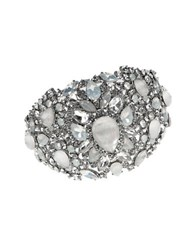 Marchesa Rhodium And Opal Bangle Silver