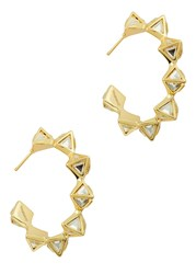 Isharya Gold Plated Hoop Earrings