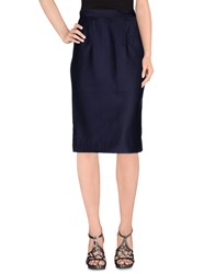 Dandg Skirts Knee Length Skirts Women Dark Blue