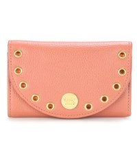 See By Chloe Kriss Leather Card Holder Pink