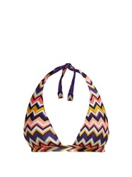 Missoni Mare Zigzag Halter Neck Bikini Top Multi