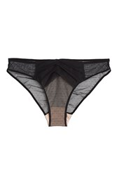 Chantal Thomass Dotted Tulle Panel Briefs Black