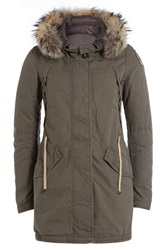 Parajumpers Down Parka With Fur Trimmed Hood Gr. Xs