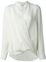 3.1 Phillip Lim Draped Wrap Blouse White