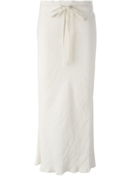 Bassike Drawstring Maxi Skirt Nude And Neutrals