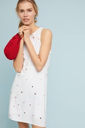 Cloth And Stone Polka Dot Seamed Dress White
