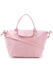 Longchamp Foldover Top Tote Bag Pink And Purple