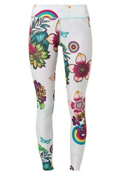 Desigual Tights Nata White