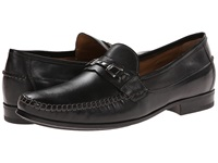 Johnston And Murphy Cresswell Bit Venetian Black Sheepskin Men's Slip On Dress Shoes