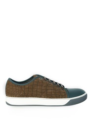 Lanvin Crocodile Effect Leather Trainers